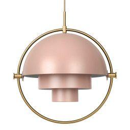 Gubi Tweedekansje - Multi-Lite hanglamp messing/roze