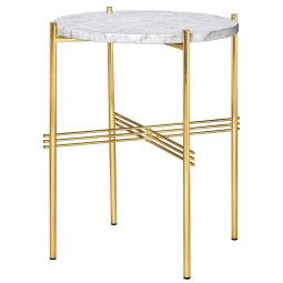 Gubi TS Table Marble bijzettafel brass 40