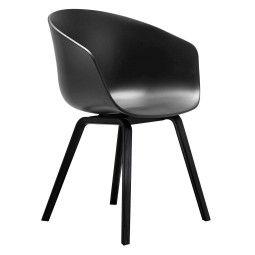 Hay Tweedekansje - AAC22 stoel met zwart onderstel soft black