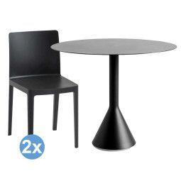 Hay Palissade tuinset Cone tuintafel 90 + 2 Elementaire stoelen