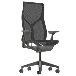 Herman Miller Cosm hoge rug verstelbare armleuningen bureaustoel Carbon