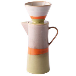 HKliving 70's ceramic coffee pot en filter