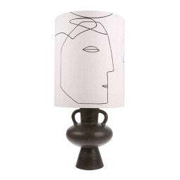 HKliving Printed Faces tafellamp