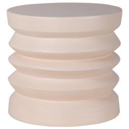HKliving Stoneware bijzettafel cream
