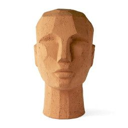 HKliving Terracotta Abstract Head beeld