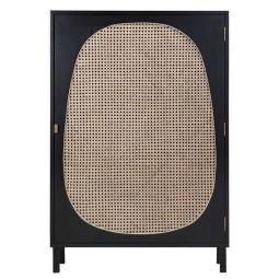 HKliving Webbing Single Door Cabinet opbergkast zwart