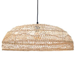 HKliving Wicker hanglamp flat naturel