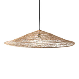 HKliving Wicker Triangle hanglamp XL