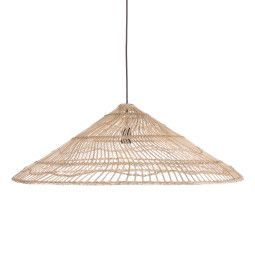 HKliving Wicker Triangle hanglamp
