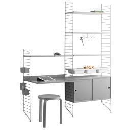 String Furniture Hoge kast 6 medium, grijs