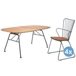 Houe Beam tuinset 180x95 tafel + 4 stoelen