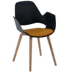 Houe Falk gestoffeerde stoel met eiken onderstel