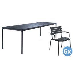 Houe Four tuinset 270x90 tafel + 6 stoelen (armchair)