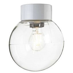 Ifö Electric Tweedekansje - Classic Globe plafond-en wandlamp clear IP54 200mm wit