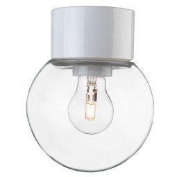 Ifö Electric Tweedekansje - Classic Globe plafond-en wandlamp wit IP54 150mm helder