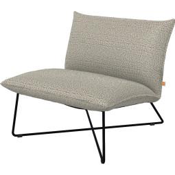 Jess Earl low fauteuil outdoor met zwart onderstel