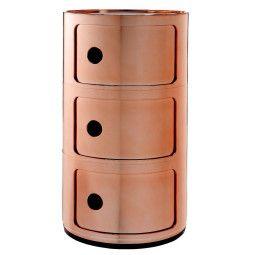 Kartell Componibili kast metallic (3 comp.)