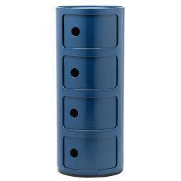 Kartell Tweedekansje - Componibili kast rond extra large (4 comp.) blauw
