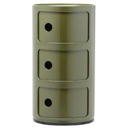 Kartell Outlet - Componibili bijzettafel large (3 comp.) groen