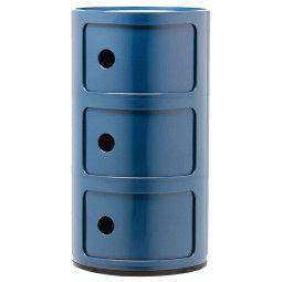 Kartell Outlet - Componibili bijzettafel large (3 comp.) blauw