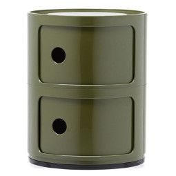 Kartell Outlet - Componibili bijzettafel medium (2 comp.) groen