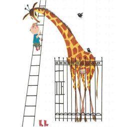 KEK Amsterdam Giant Giraffe behangpaneel