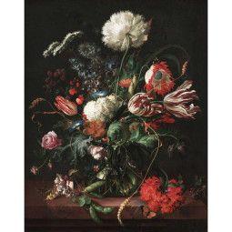 KEK Amsterdam Golden Age Flowers behangpaneel