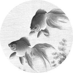 KEK Amsterdam Goldfish behangcirkel zwart wit