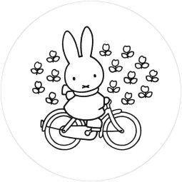KEK Amsterdam Nijntje Riding Bike behangcirkel