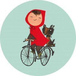 KEK Amsterdam Riding My Bike behangcirkel
