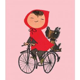 KEK Amsterdam Riding my Bike roze behang