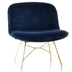 Magis Troy fauteuil goud onderstel donkerblauw
