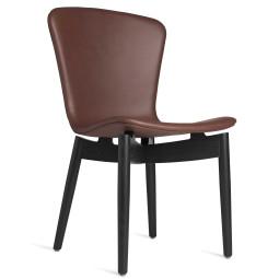 Mater Design Shell Chair stoel zwart eiken onderstel