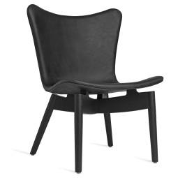 Mater Design Shell fauteuil zwart eiken onderstel