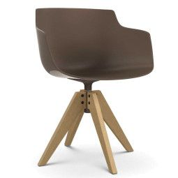 MDF Italia Flow Slim Color VN Oak stoel naturel