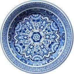Moooi Carpets Delft Blue Plate vloerkleed 250 wol