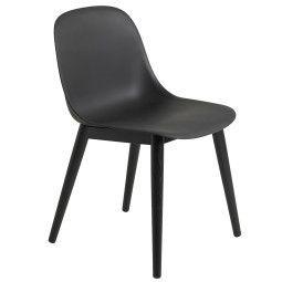 Muuto Fiber Side Wood stoel