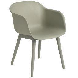 Muuto Tweedekansje - Fiber Wood stoel dusty green