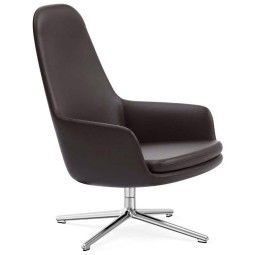Normann Copenhagen Era Lounge Chair High Swivel fauteuil met aluminium onderstel