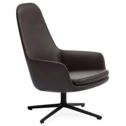 Normann Copenhagen Era Lounge Chair High Swivel fauteuil met zwart onderstel