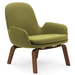Normann Copenhagen Era Lounge Chair Low loungestoel met walnoten onderstel