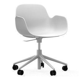 Normann Copenhagen Form Armchair bureaustoel met wit onderstel