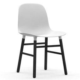 Normann Copenhagen Form Chair stoel met zwart onderstel
