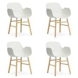 Normann Copenhagen Set aanbieding Form Oak Armchair stoel (4x)