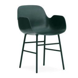 Normann Copenhagen Form Armchair stoel met stalen onderstel
