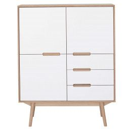 Wood and Vision Curve Highboard opbergkast 3-3