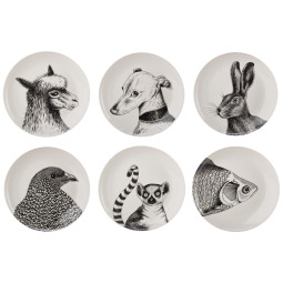 Pols Potten Animals borden set van 6