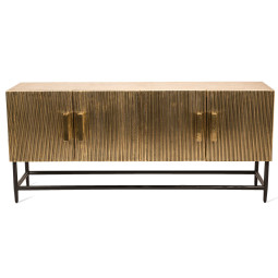 Pols Potten Cabinet ribbel gold low dressoir