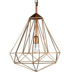 Pols Potten Tweedekansje - Diamond hanglamp medium koper