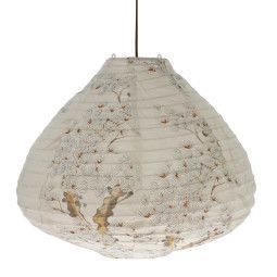 HKliving Printed Lantern Cherry Tree hanglamp